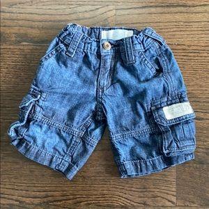 Diesel boys cargo jean shorts